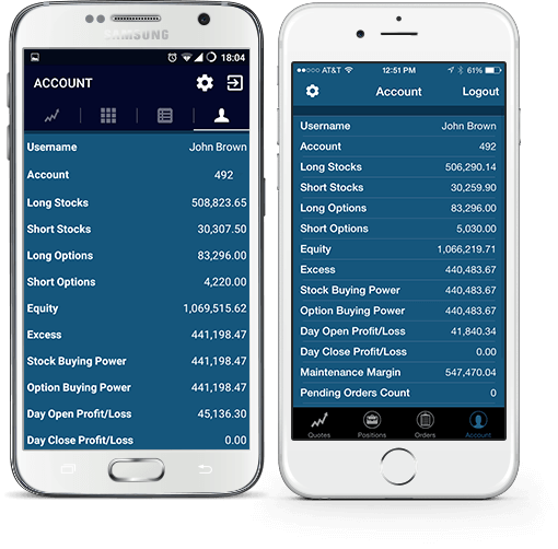 Mobile Trading Terminal iOS and Android